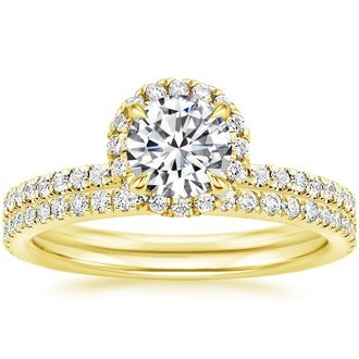 18K Yellow Gold. WAVERLY DIAMOND BRIDAL SET ...