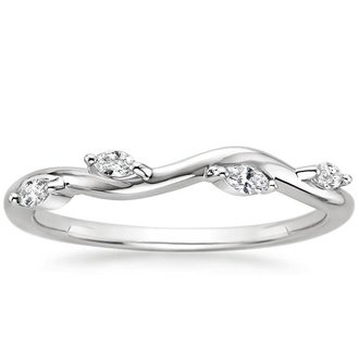18k white gold winding willow diamond ring - Wedding Rings And Bands