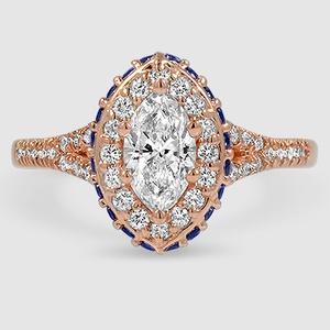 Princess-Cut 2.0mm Blue Sapphire and 1//4 CT T.W D//VVS1 DiamondX Cross Pendant 18 In 925 Sterling Silver
