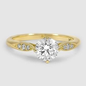 18K Yellow Gold Jolie Diamond Ring