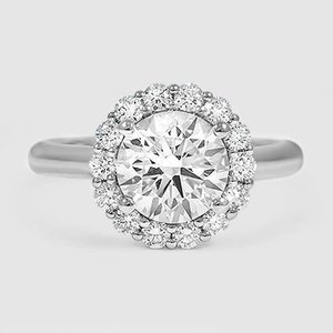 Platinum Lotus Flower Diamond Ring (1/3 ct. tw.)