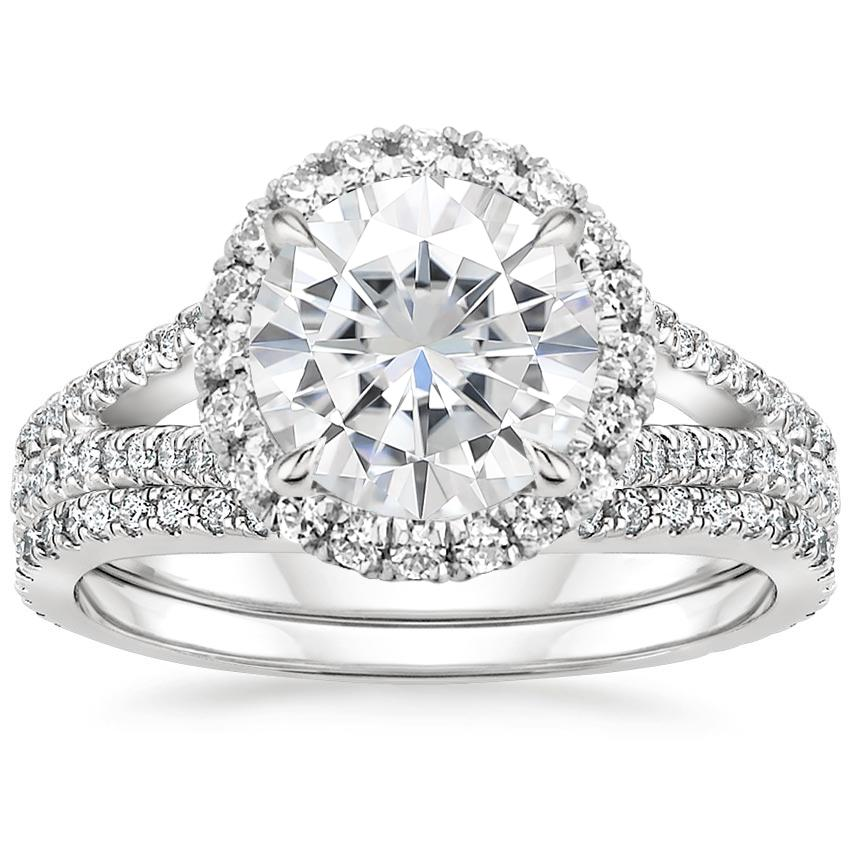 PT Moissanite Fortuna Diamond Bridal Set (2/3 ct. tw.), top view