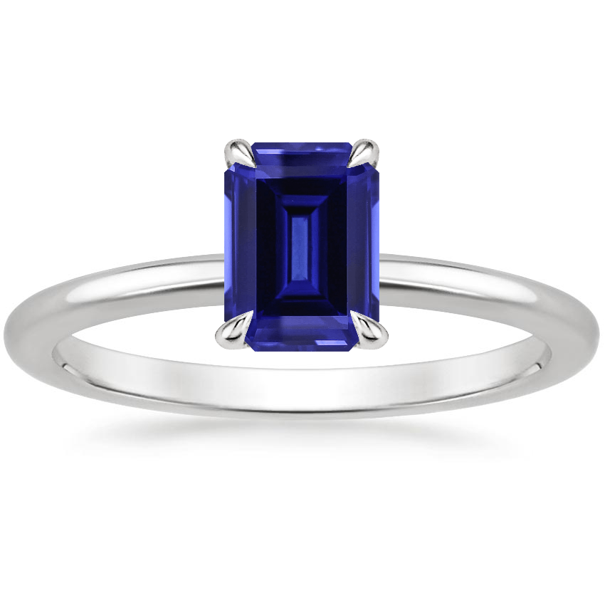 Sapphire Everly Diamond Ring in 18K White Gold