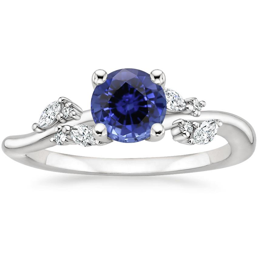 Sapphire Arden Diamond Ring in Platinum