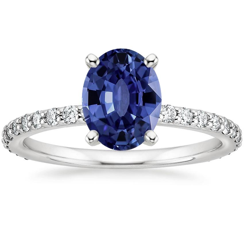 Sapphire Luxe Petite Shared Prong Diamond Ring (1/3 ct. tw.) in 18K White Gold