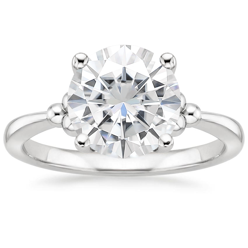 Moissanite Soiree Ring in Platinum