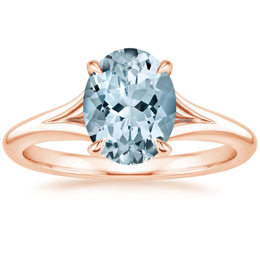 Rose Gold Aquamarine Reverie Ring