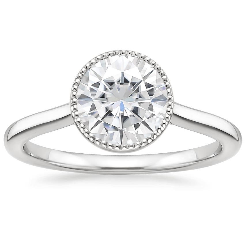 Moissanite Margot Ring in 18K White Gold