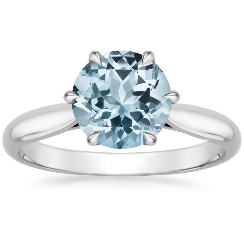 Aquamarine Catalina Ring in Platinum