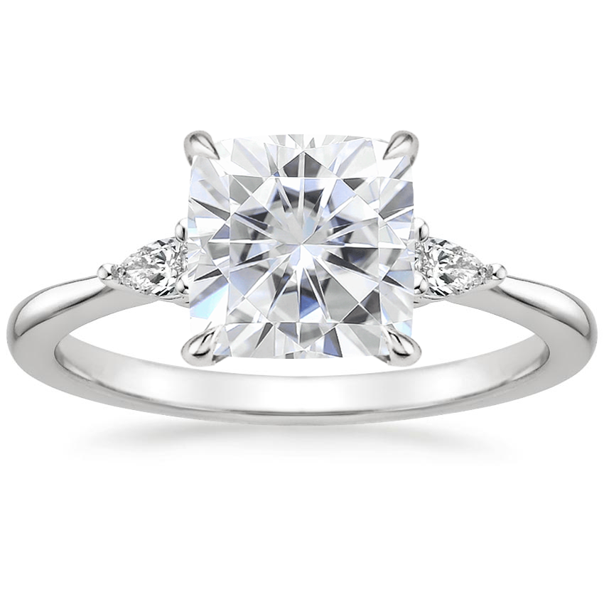 Moissanite Aria Diamond Ring (1/10 ct. tw.) in Platinum