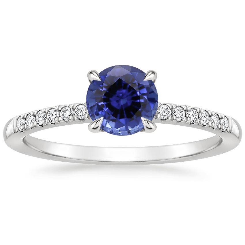 Sapphire Petite Viviana Diamond Ring (1/6 ct. tw.) in 18K White Gold