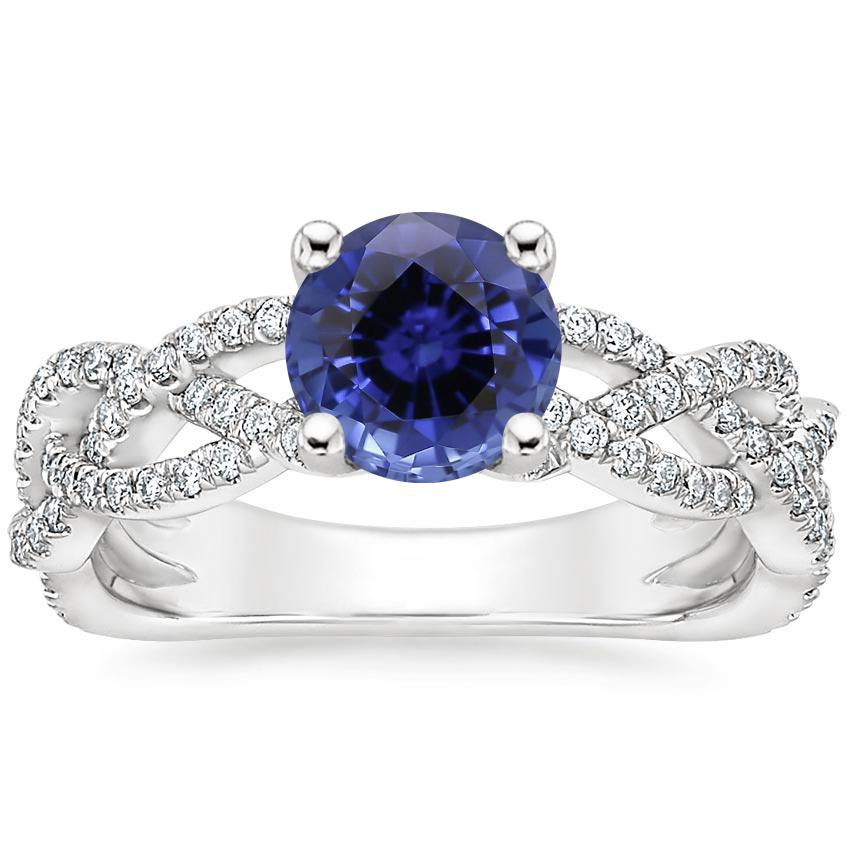 Sapphire Solana Diamond Ring (1/3 ct. tw.) in 18K White Gold