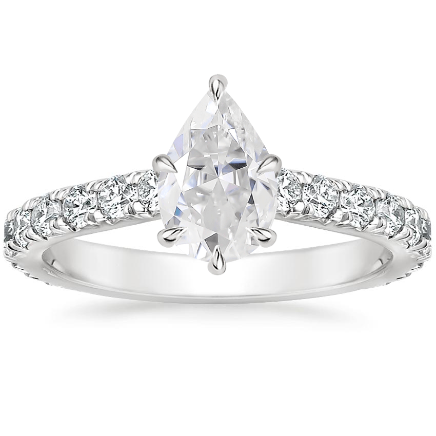 Moissanite Luxe Sienna Diamond Ring (1/2 ct. tw.) in 18K White Gold