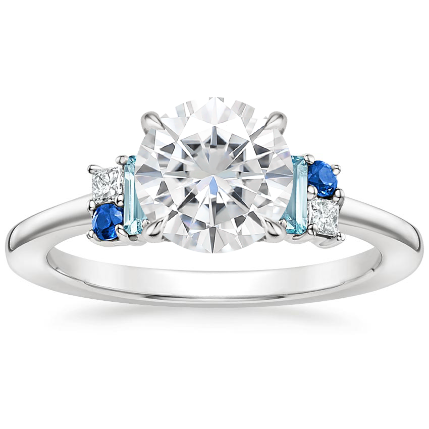 Moissanite Mazarine Ring in Platinum