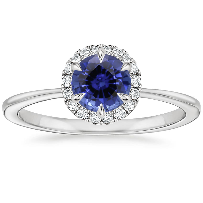 Sapphire Adelaide Diamond Ring in 18K White Gold