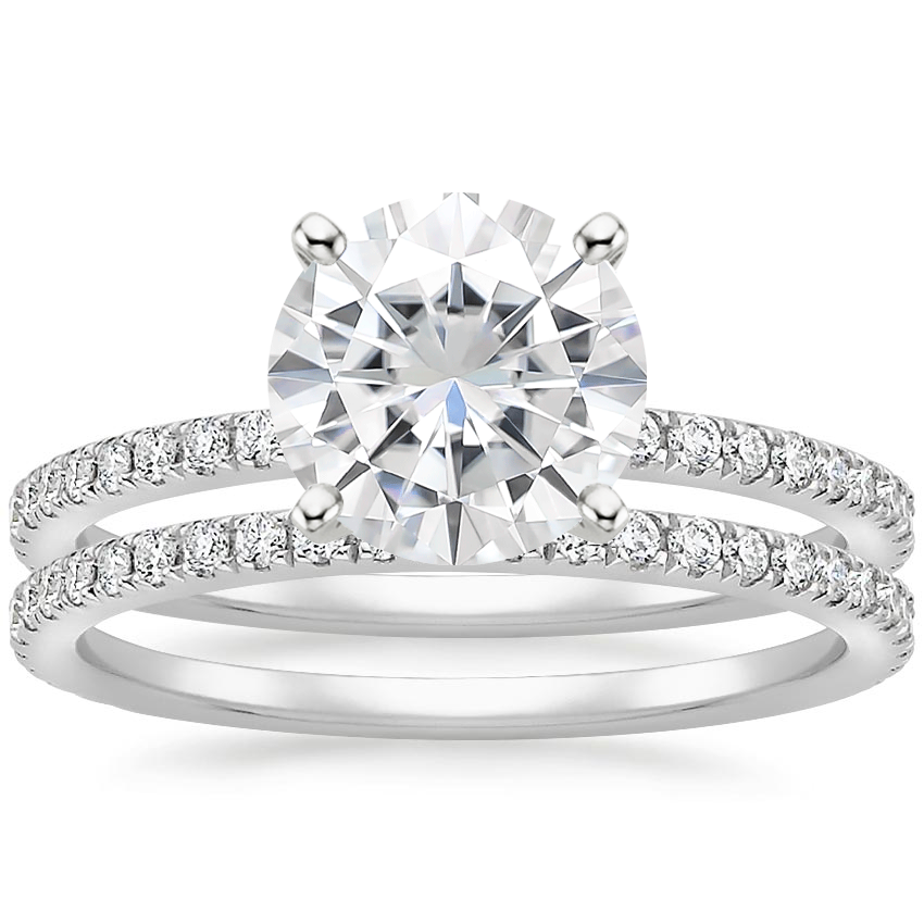 18KW Moissanite Luxe Ballad Bridal Set (1/2 ct. tw.), top view