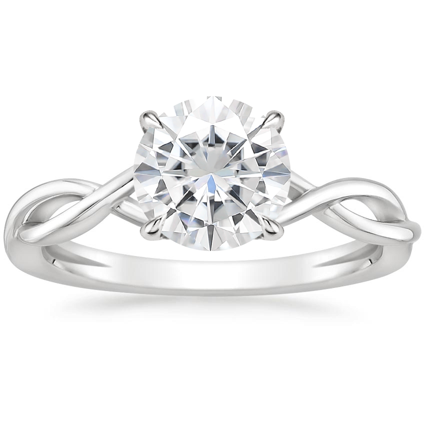 Moissanite Ayla Ring in 18K White Gold