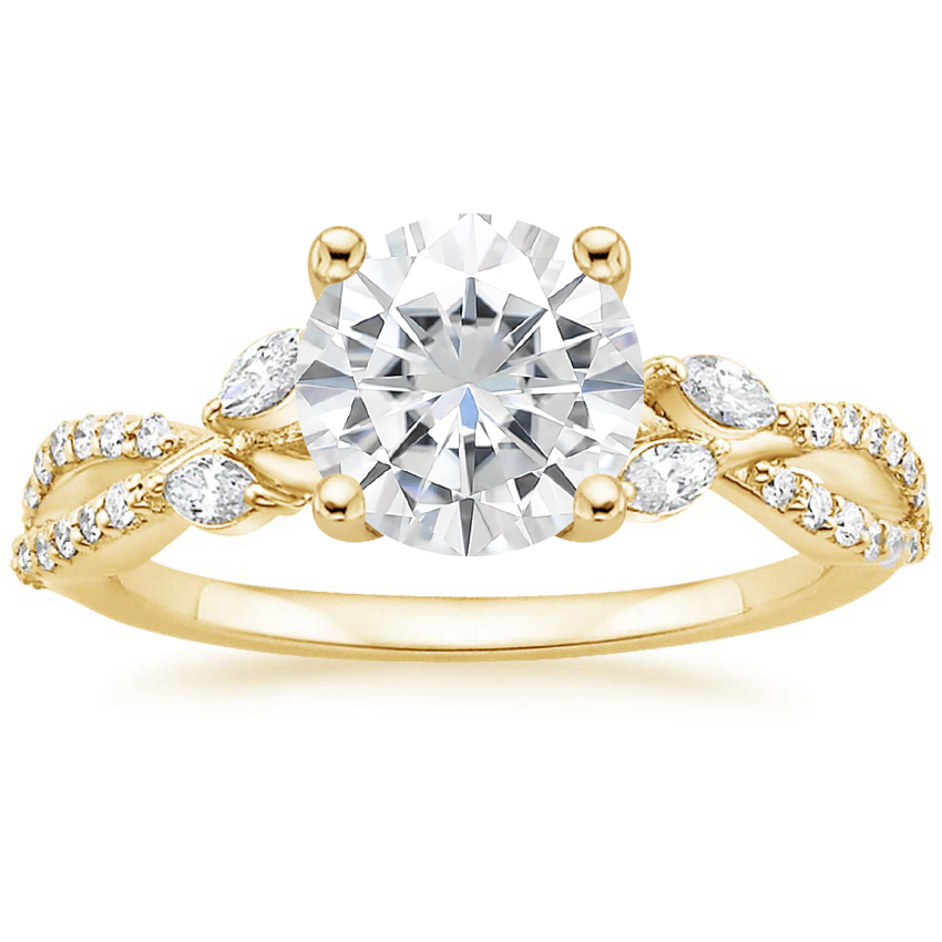 Yellow Gold Moissanite Luxe Willow Diamond Ring (1/4 ct. tw.)