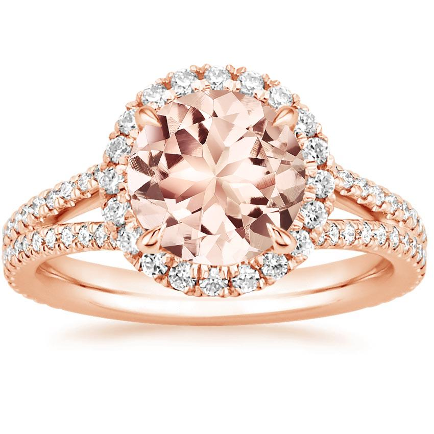 Rose Gold Morganite Fortuna Diamond Ring (1/2 ct. tw.)