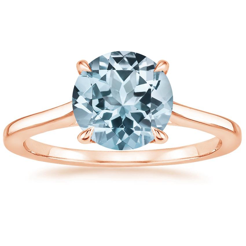 Rose Gold Aquamarine Provence Ring