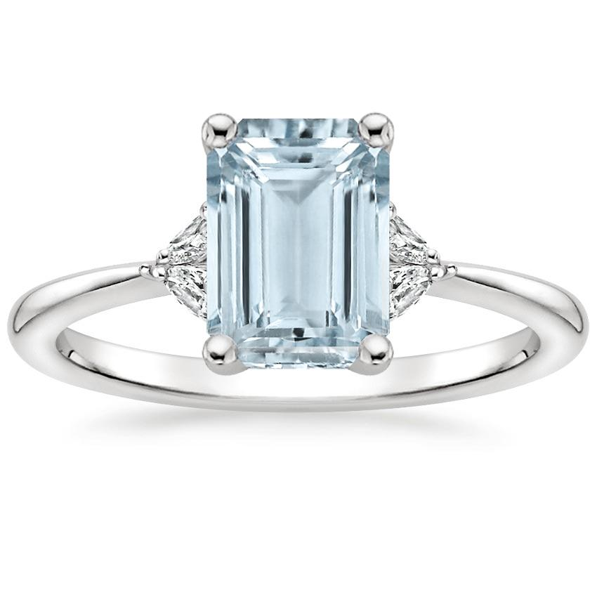 Aquamarine Faye Diamond Ring in Platinum