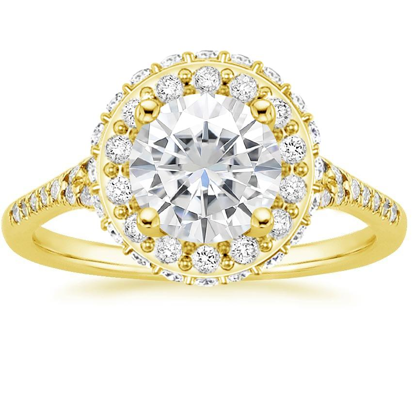 Yellow Gold Moissanite Circa Diamond Ring (1/2 ct. tw.)