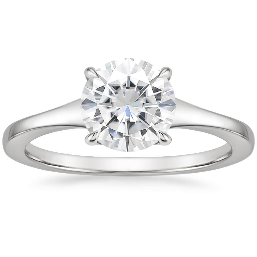 Moissanite Muse Ring in 18K White Gold