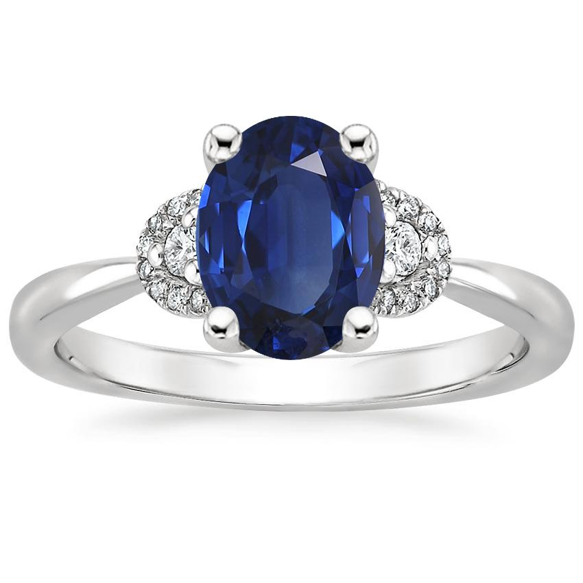 Sapphire Lorelai Diamond Ring in 18K White Gold