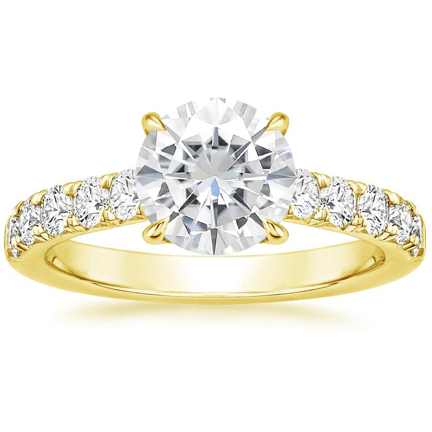 Yellow Gold Moissanite Luxe Anthology Diamond Ring (1/2 ct. tw.)