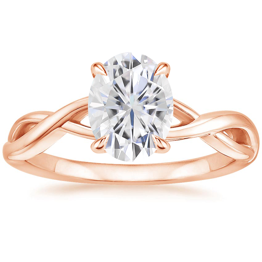 Rose Gold Moissanite Eden Diamond Ring