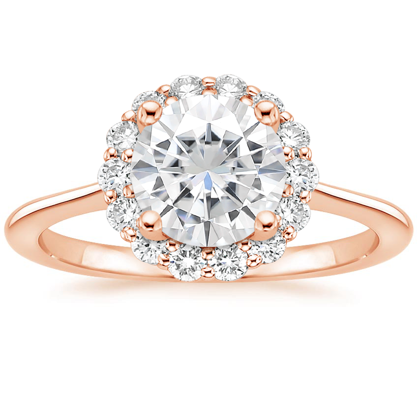 Rose Gold Moissanite Calla Diamond Ring (1/3 ct. tw.)
