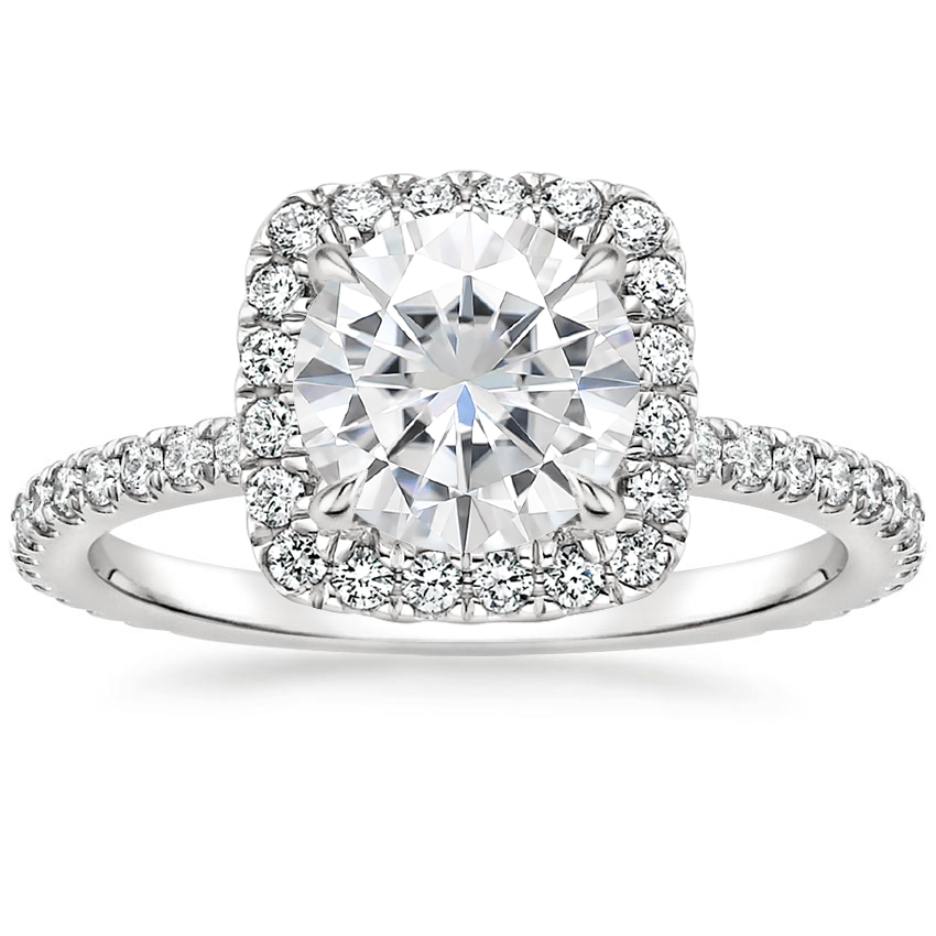 Moissanite Giselle Diamond Ring (1/2 ct. tw.) in 18K White Gold