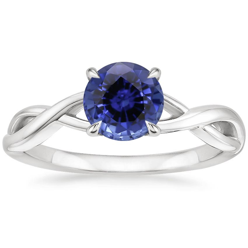 Sapphire Eden Diamond Ring in 18K White Gold