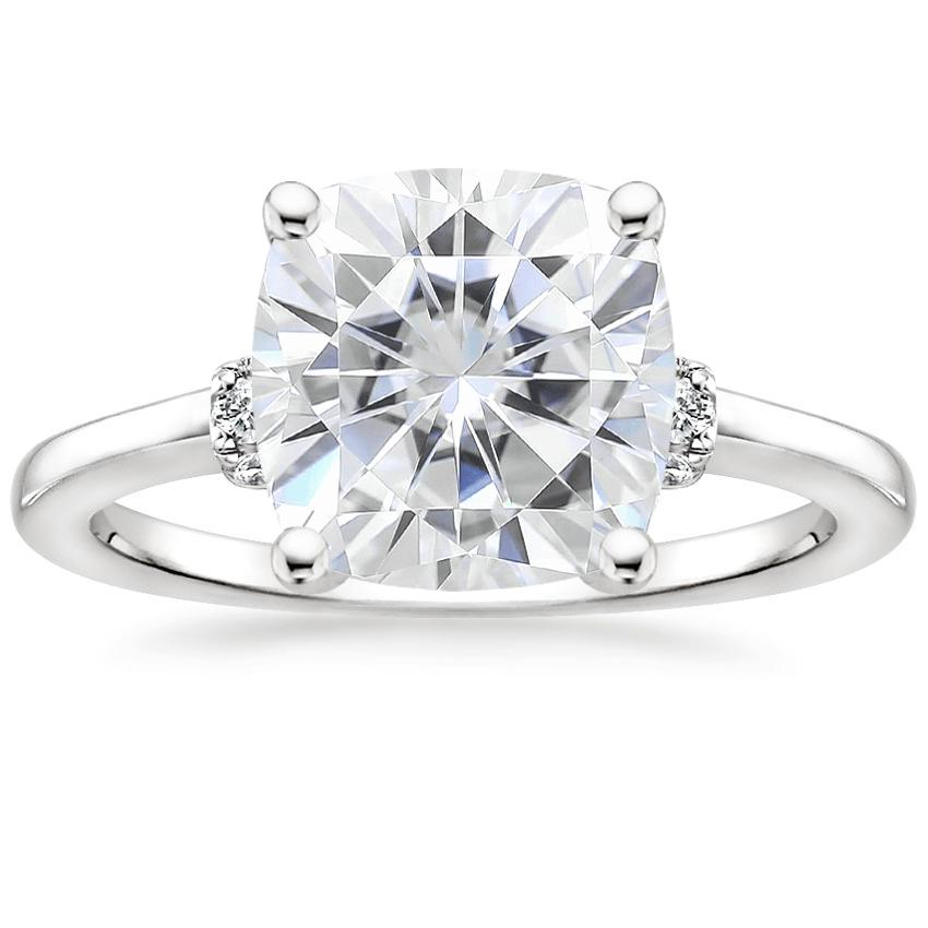 Moissanite Leighton Diamond Ring in 18K White Gold