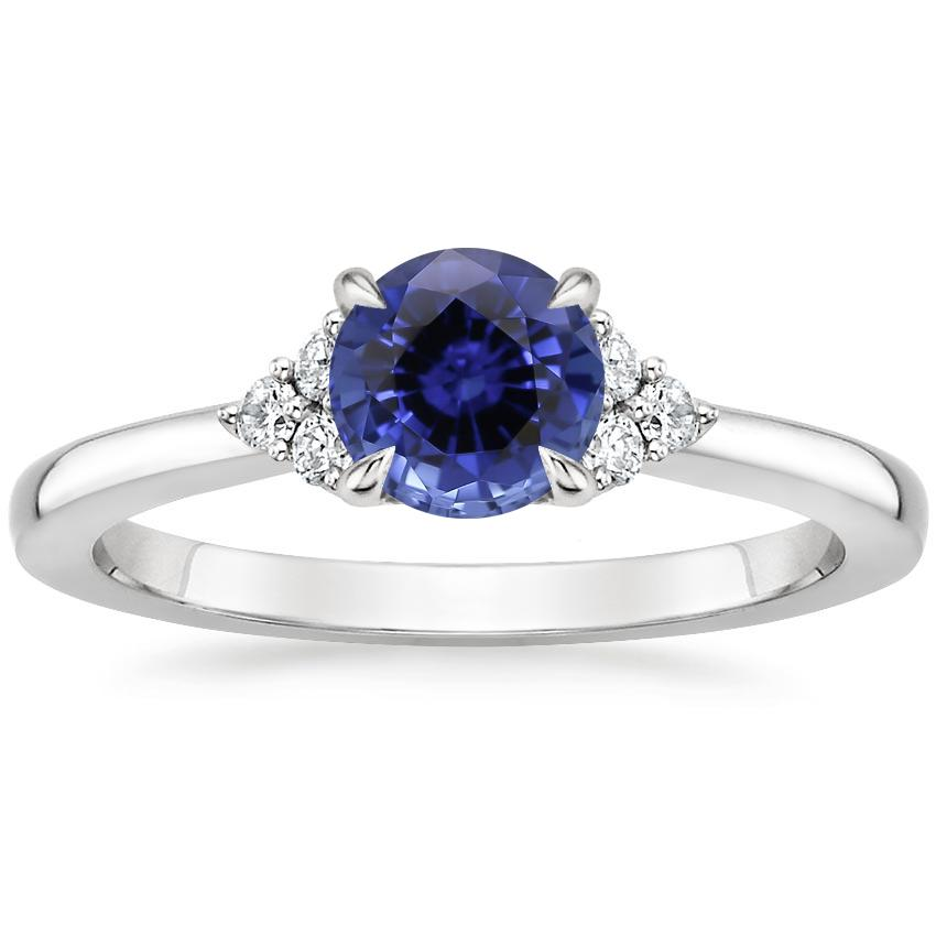 Sapphire Melody Diamond Ring in Platinum
