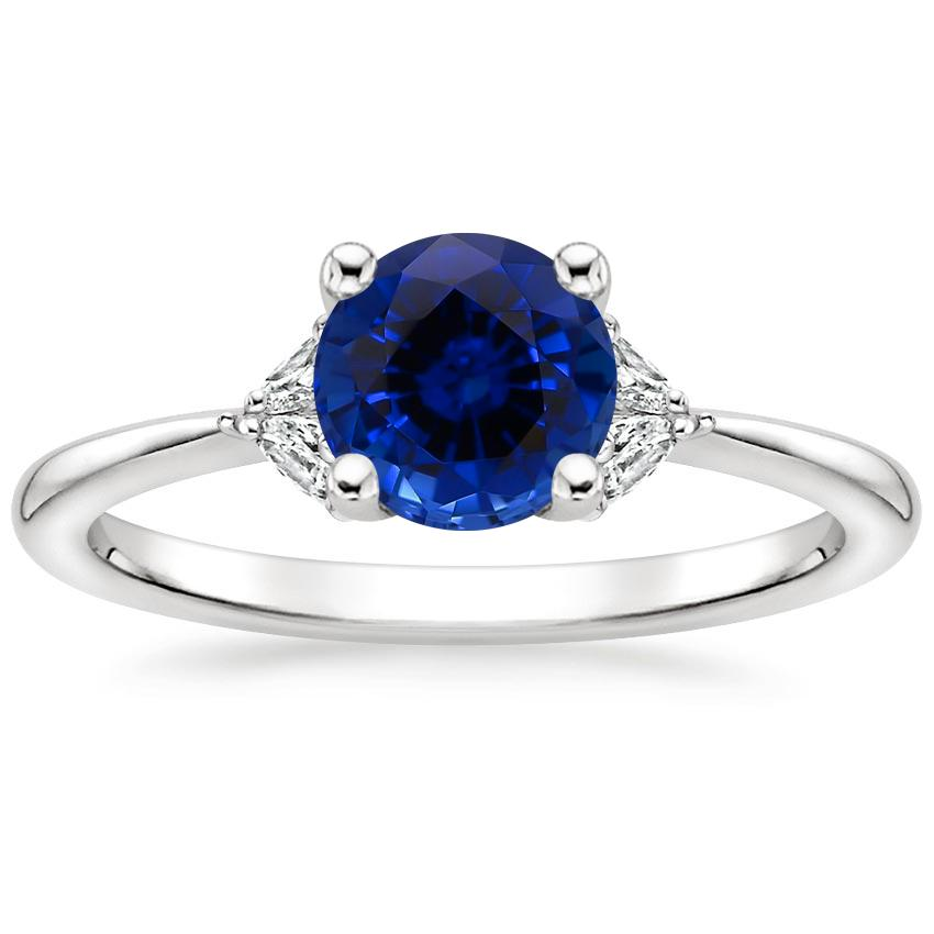 Sapphire Faye Diamond Ring in 18K White Gold