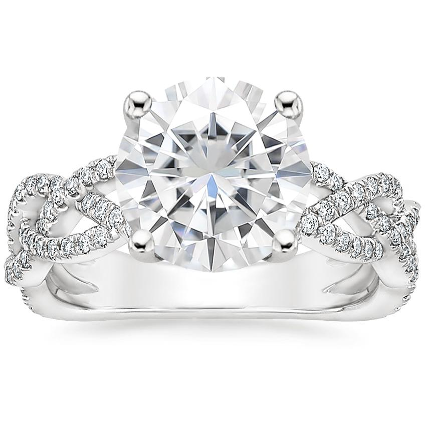Moissanite Solana Diamond Ring (1/3 ct. tw.) in 18K White Gold
