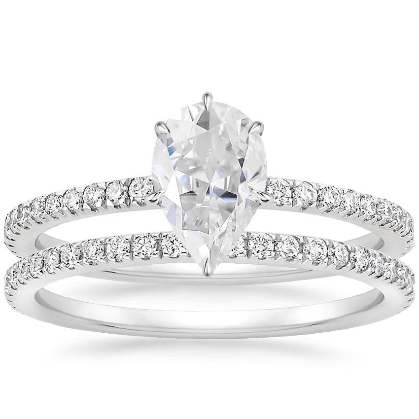 PT Moissanite Viviana Diamond Bridal Set (1/2 ct. tw.), top view