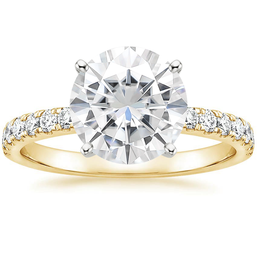 Yellow Gold Moissanite Constance Diamond Ring (1/3 ct. tw.)