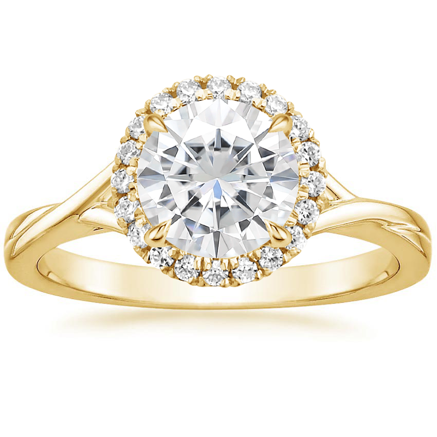 Yellow Gold Moissanite Serendipity Diamond Ring