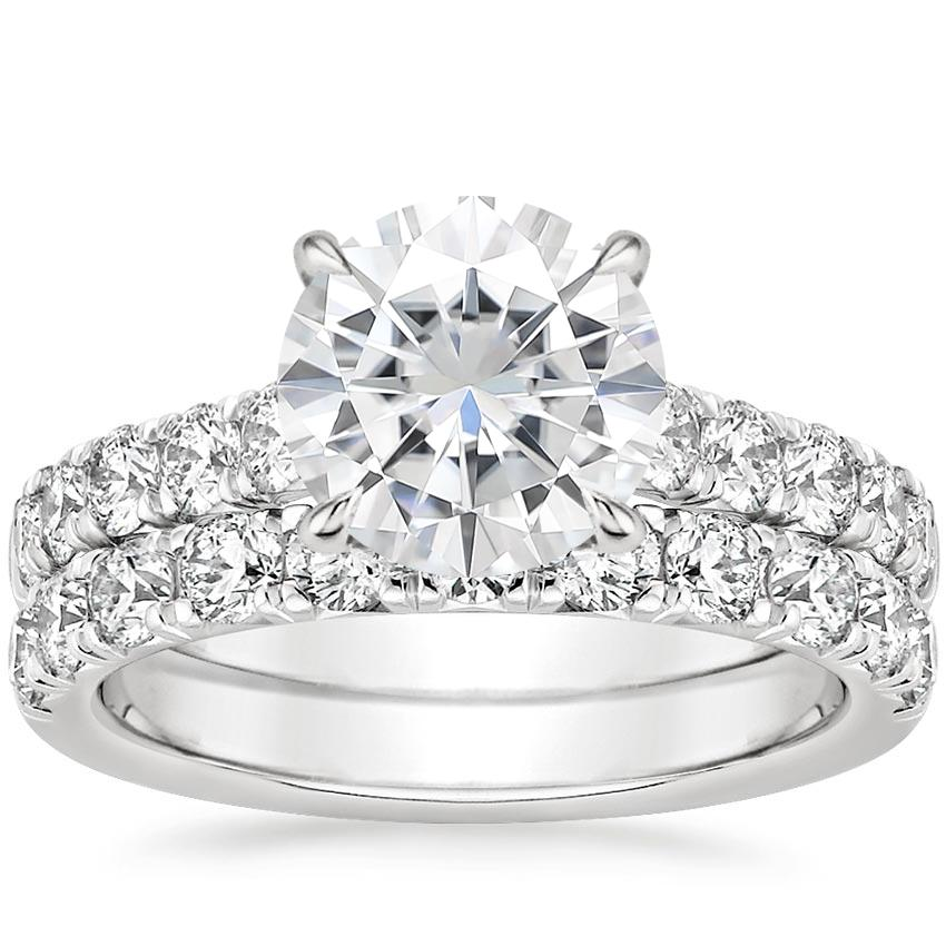 18KW Moissanite Luxe Anthology Bridal Set (1 1/5 ct. tw.), top view
