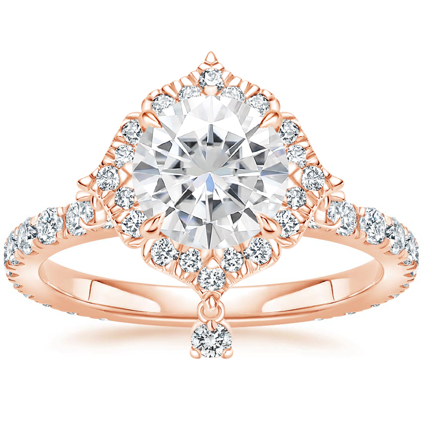 Rose Gold Moissanite Summer Rain Diamond Ring (3/4 ct. tw.)