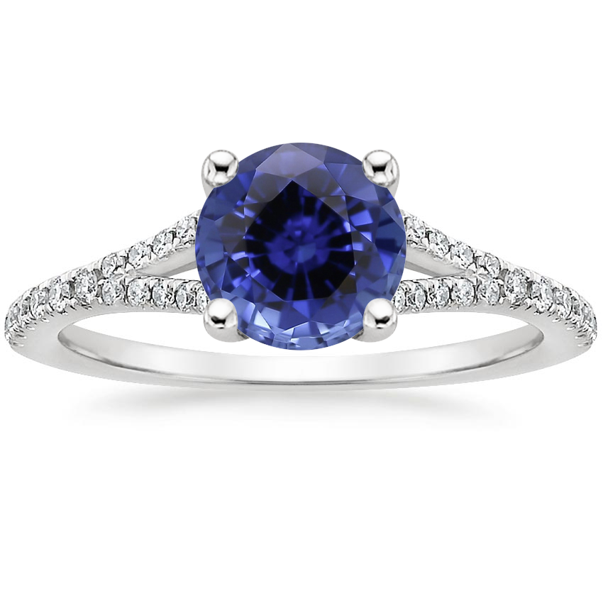 Sapphire Flair Diamond Ring in Platinum
