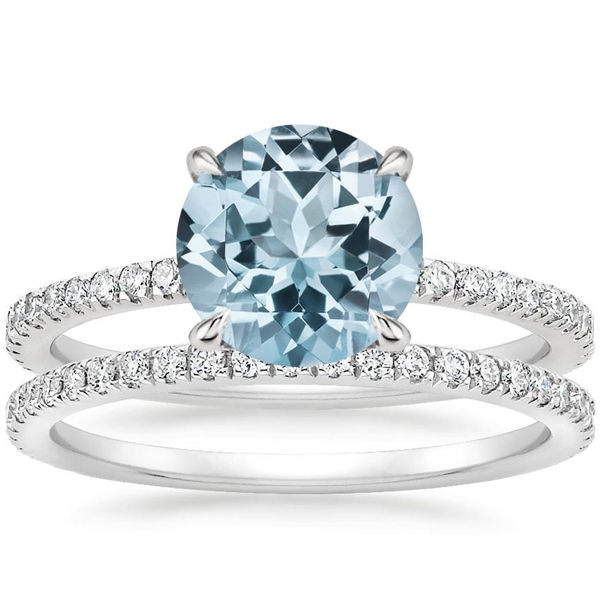 PT Aquamarine Luxe Viviana Diamond Bridal Set (1/2 ct. tw.), top view
