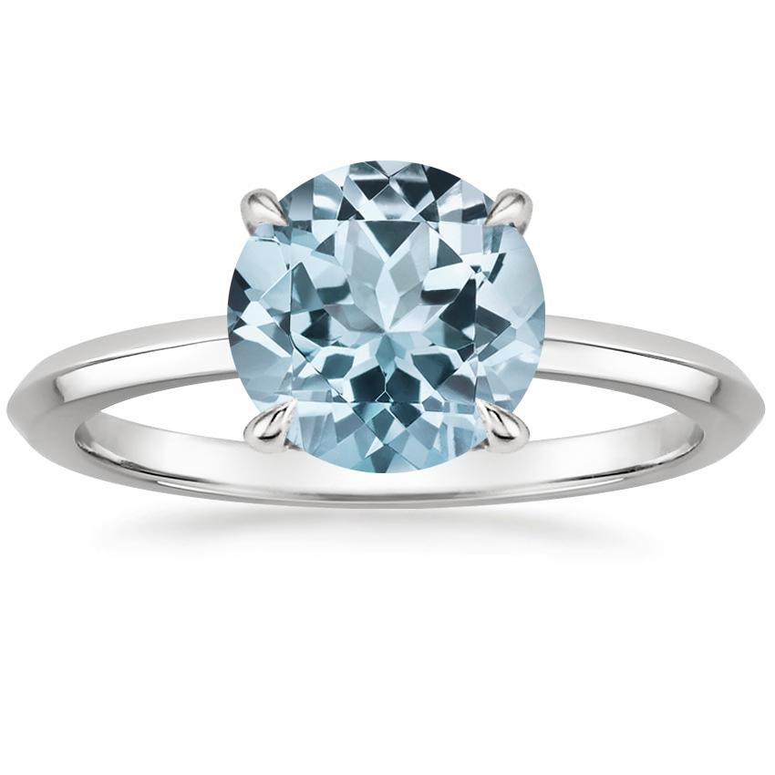 Aquamarine Hazel Ring in Platinum