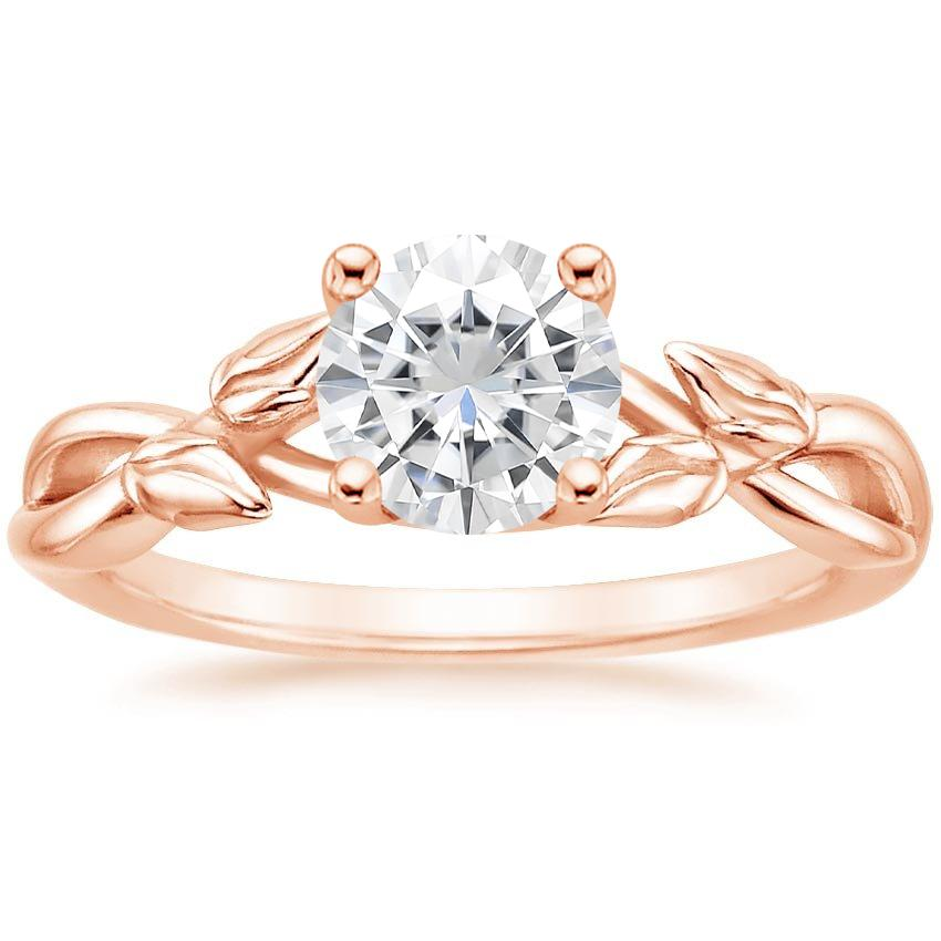 Rose Gold Moissanite Budding Willow Ring