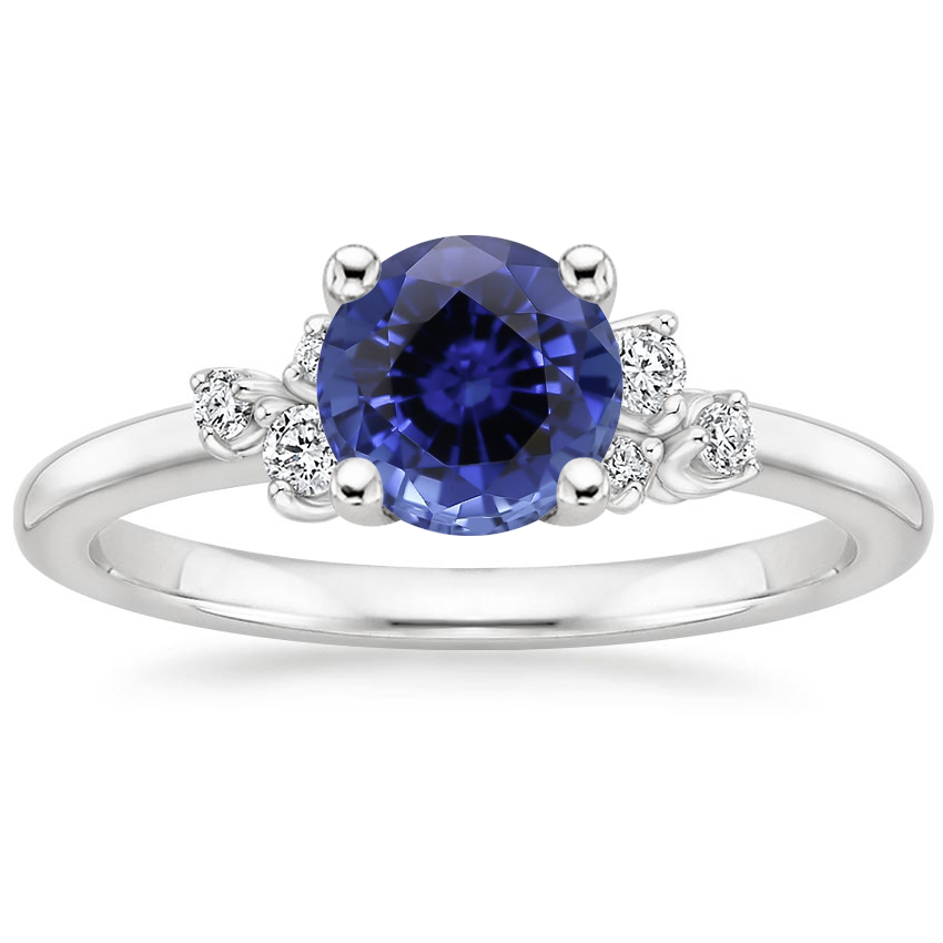 Sapphire Mia Diamond Ring in 18K White Gold
