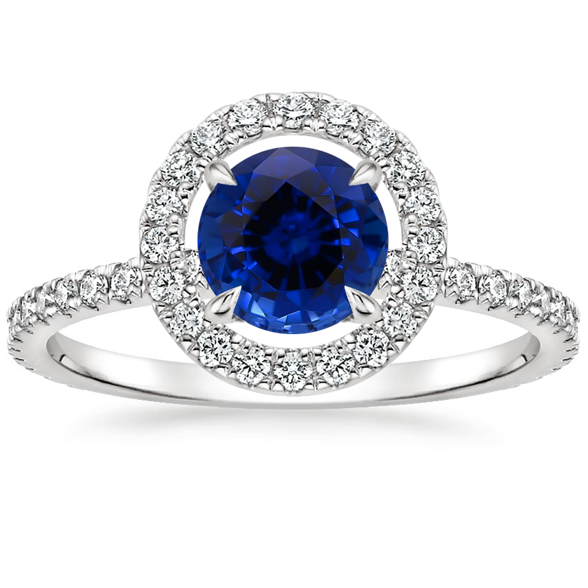 Sapphire Aura Diamond Ring in Platinum