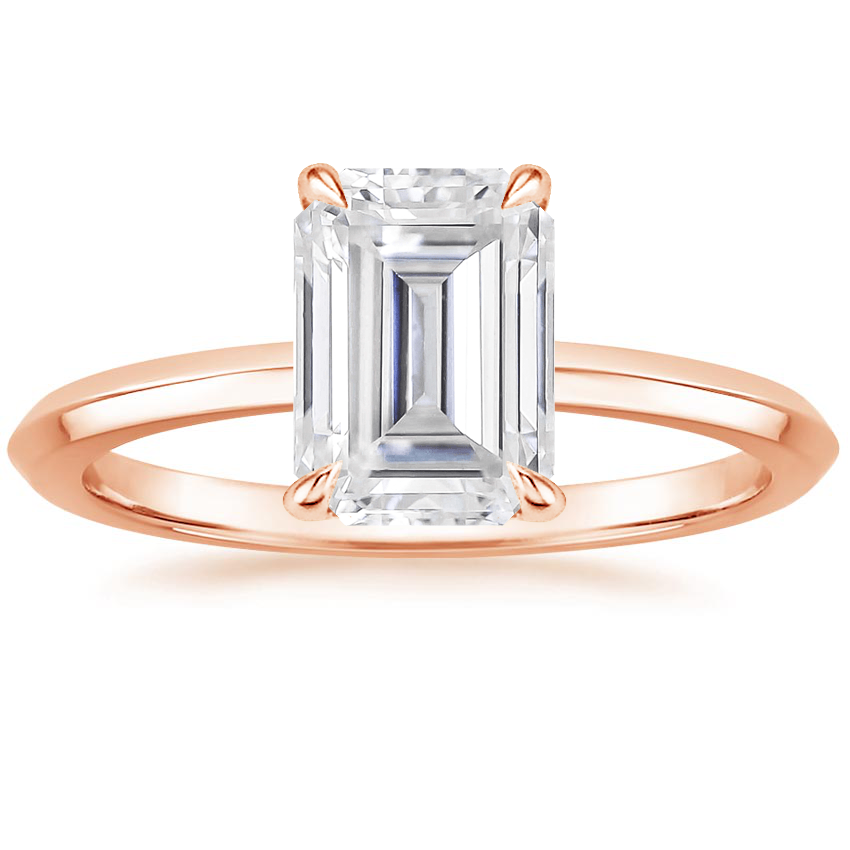 Rose Gold Moissanite Hazel Ring