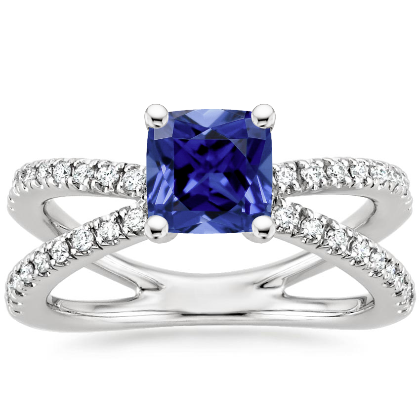 Sapphire Bisou Diamond Ring (1/3 ct. tw.) in 18K White Gold